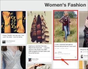 Естественная реклама в Pinterest