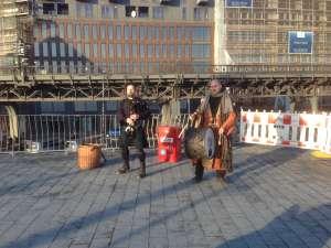 Местные музыканты в Гамбурге