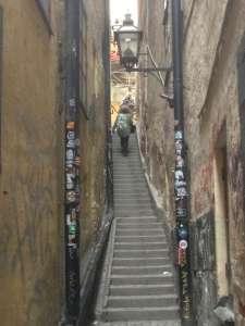 Самая узкая улица Стокгольма