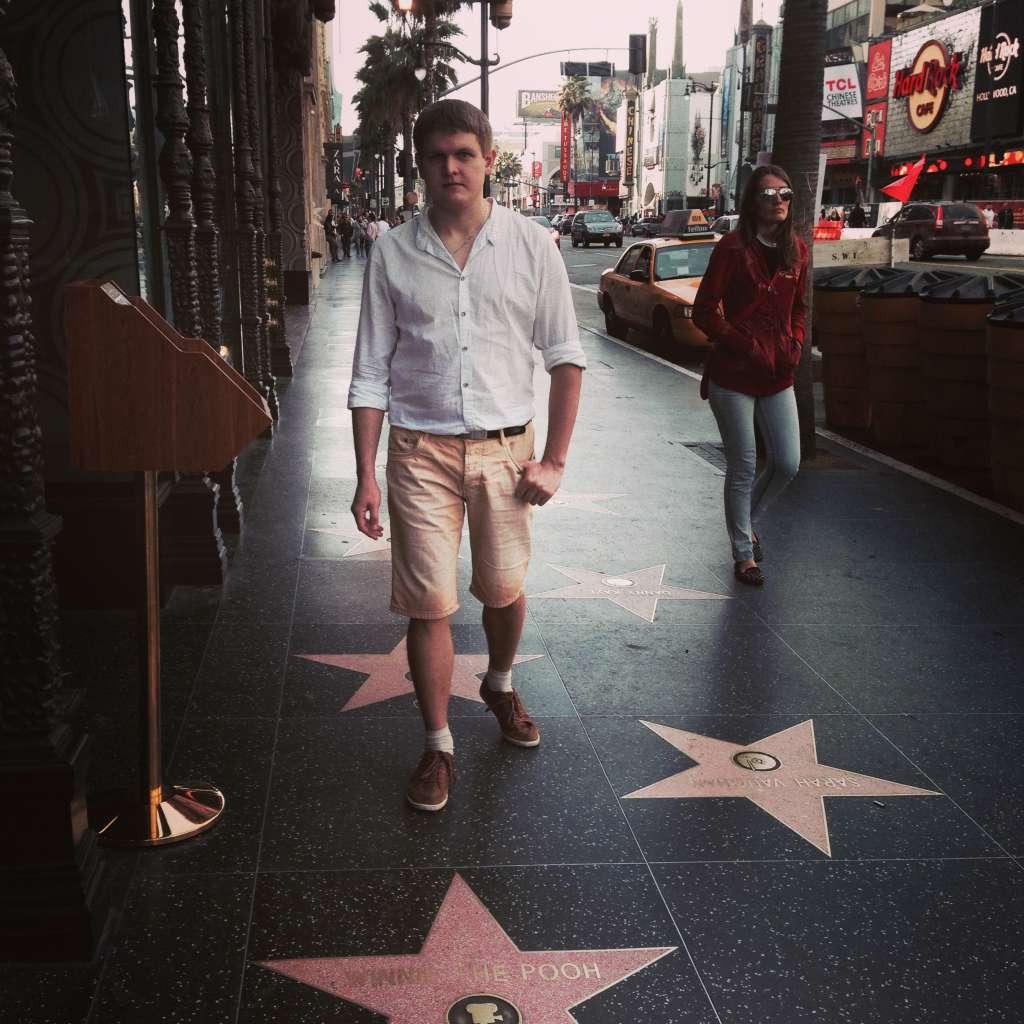 Голивудская аллея славы. Лос-Анджелес, США.