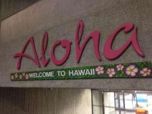 Приветствие в аэропорту Гонолулу.