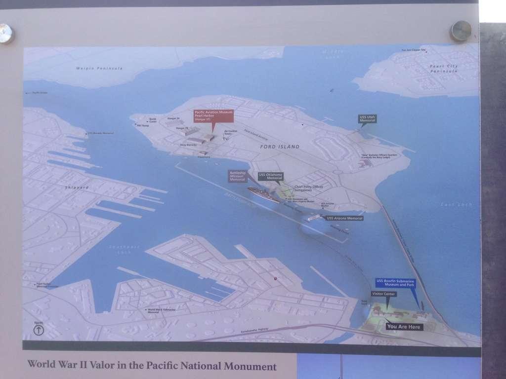 Карта Перл Харбор.