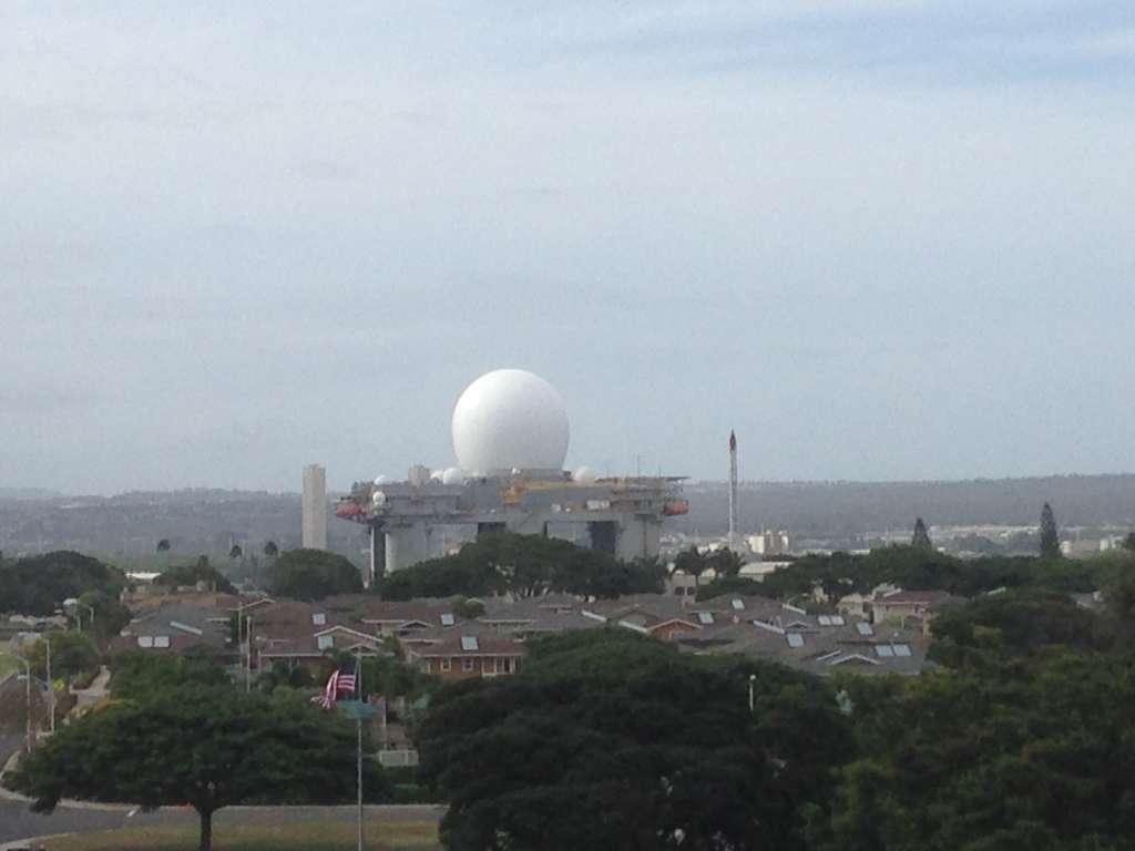 Плавающая радарная установка.