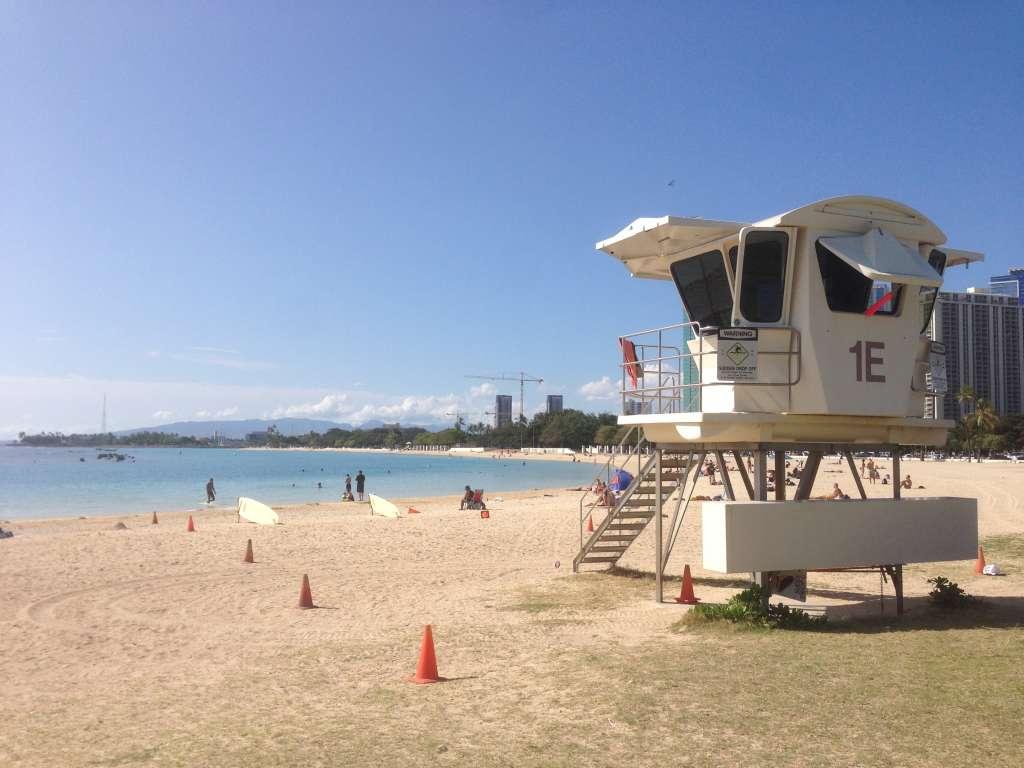 Пляж в Гонолулу.