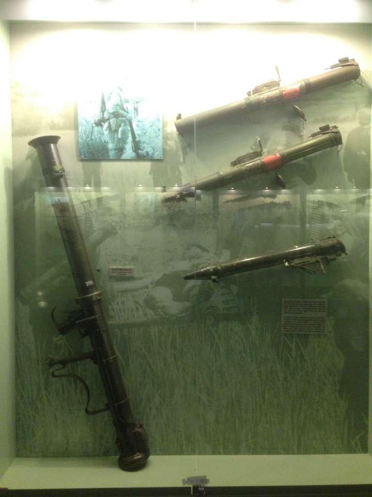 Трофейное оружие в музеи Вьетнамо-Американской войны.