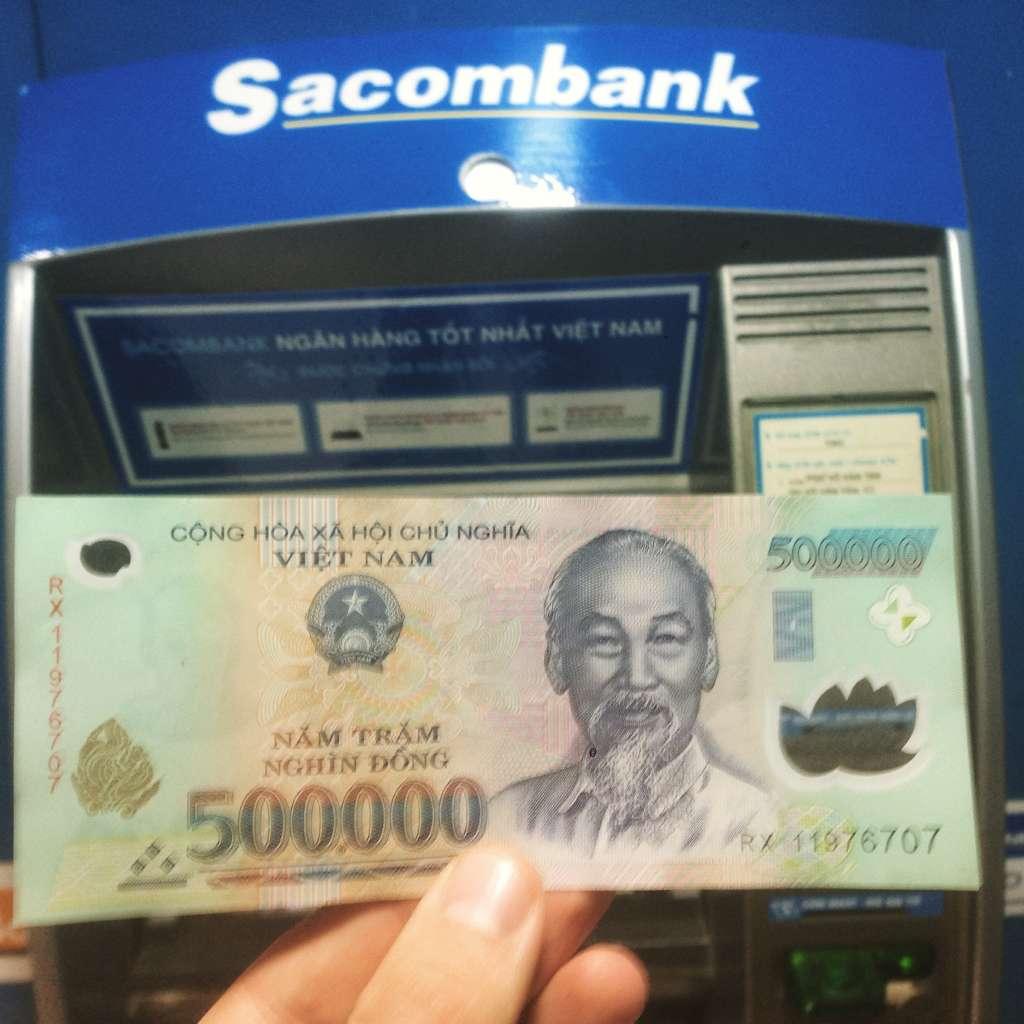 500 000 донг = 22-23 usd.