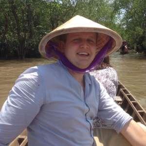 Прогулка на лодке по реке Меконг.