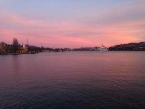 Закат над озером Меларен