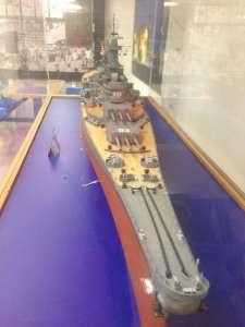 Макет корабля участвующего в войне США и Японии.