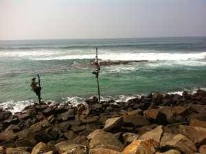 Шри-ланкийские рыбаки.
